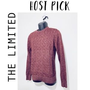 Vintage Tommy Hilfiger Cable Knit Sweater Maroon